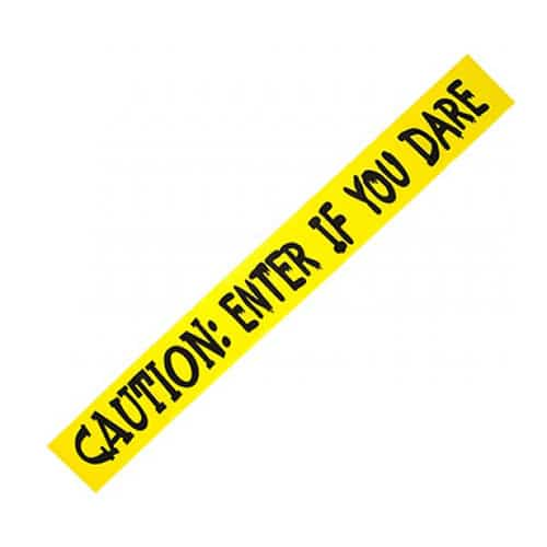 Halloween Printed Yellow Fright Tapes 3m - Pack of 3