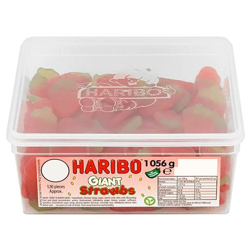 Haribo Giant Strawberry Jelly Sweets - Pack of 120