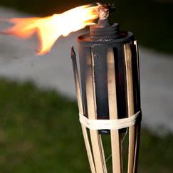 Garden Bamboo Torches