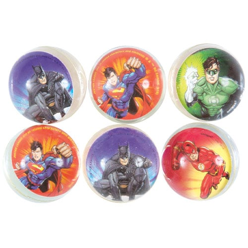 Justice League Assorted Bounce Balls - Pack of 6