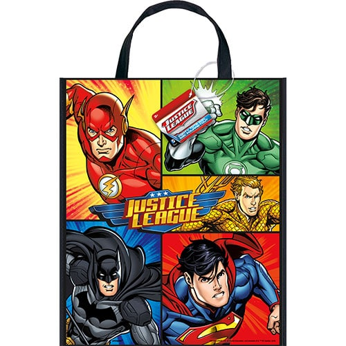 Justice League Plastic Tote Bag 33cm x 28cm
