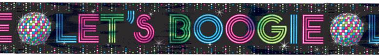 Let's Boogie Disco Foil Banner 7.6m