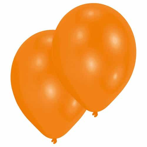 Metallic Orange Latex Balloons 28cm / 11 in - Pack of 25