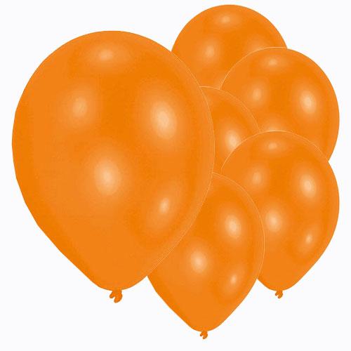 Metallic Orange Latex Balloons 28cm / 11 in - Pack of 50