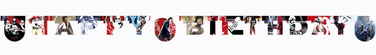 Star Wars The Last Jedi Happy Birthday Cardboard Jointed Letter Banner 200cm