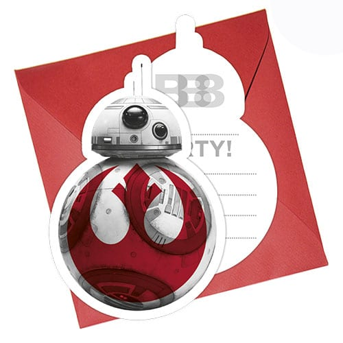 Star Wars The Last Jedi Invitations with Envelopes - Pack of 6