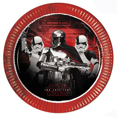 Star Wars The Last Jedi Metallic Round Paper Plates 23cm - Pack of 8
