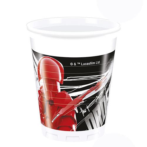 Star Wars The Last Jedi Plastic Cups 200ml - Pack of 8