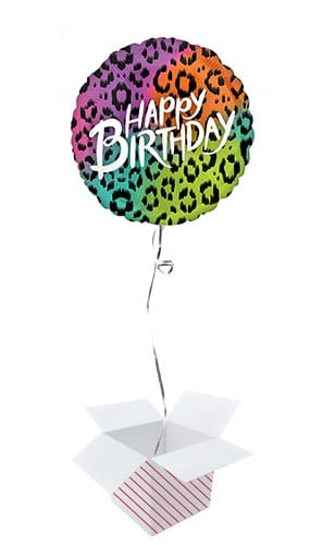 Wild Happy Birthday Helium Foil Giant Balloon - Inflated Balloon in a Box