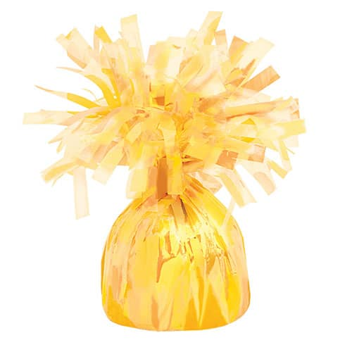 Yellow Foil Balloon Weight