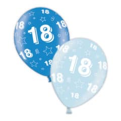 18th Birthday Blue Latex Balloons 28cm / 11 in - Pack of 25