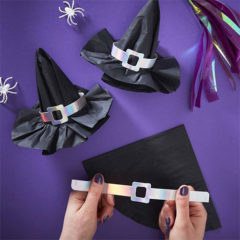 3D Witch Hat DIY Halloween Napkins - Pack of 12