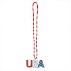 4th of July USA Bead Bling Necklace