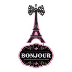 A Day in Paris MDF Sign Hanging Decoration 53cm