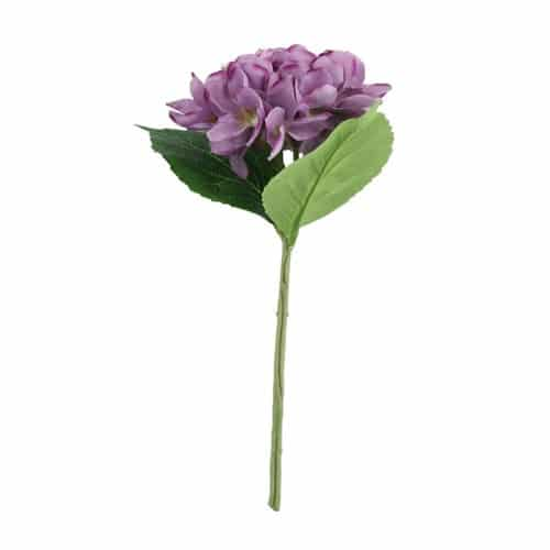 Arundel Hydrangea Purple Artificial Silk Flower 34cm Product Gallery Image