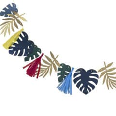 Assorted Tropical Leaves With Tassels Garland Kit