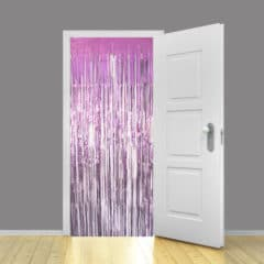Baby Pink Metallic Shimmer Curtain 95cm x 200cm - Pack of 10
