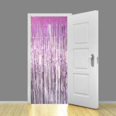 Baby Pink Metallic Shimmer Curtain 95cm x 200cm