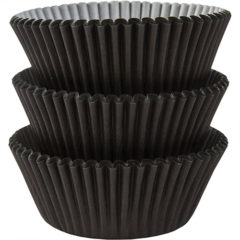 Black Baking Cupcake Cases - Pack of 75