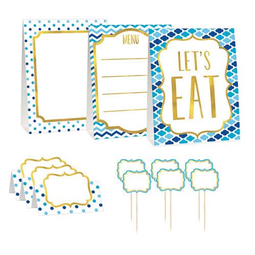Blue Buffet Decoration Kit