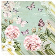 Botanical Green Premium Luncheon Napkins 3Ply 33cm - Pack of 20