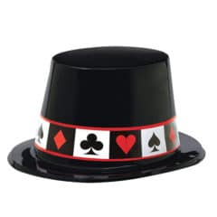Casino Plastic Top Hat Fancy Dress