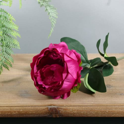 Cerise Arundel Garden Peony Artificial Silk Flower 56cm Product Gallery Image