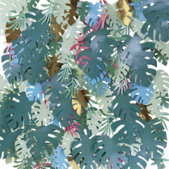 Deluxe Multi-Coloured Tropical Leaves Backdrop Kit