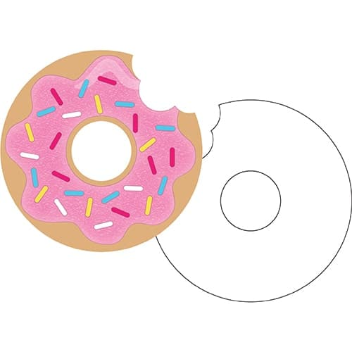 Donut Party Invitations with Envelopes - Pack of 8