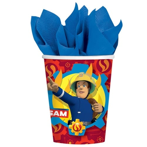 Fireman Sam Paper Cups 266ml - Pack of 8