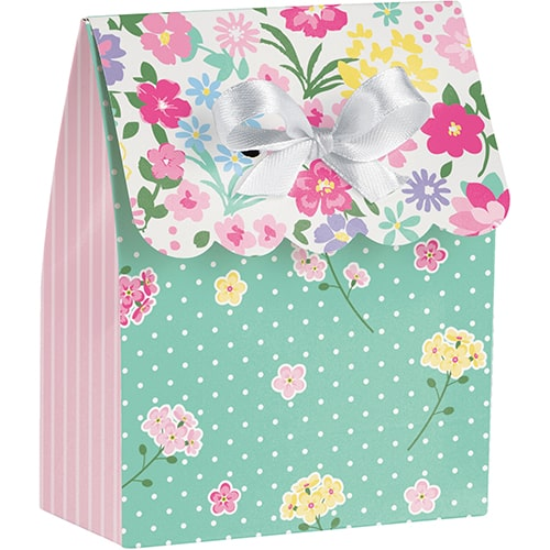 Floral Tea Party Assorted Paper Favour Bags - Pack of 6