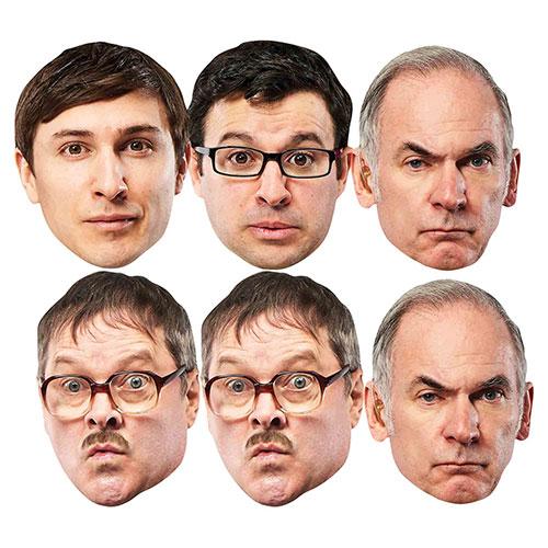 Friday Night Dinner Cardboard Face Masks - Pack of 6
