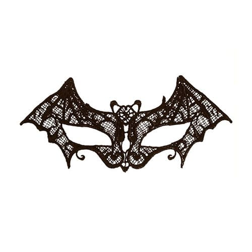 Black Lace Bat Eye Mask Adult Halloween Fancy Dress
