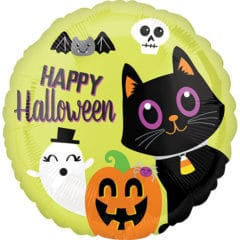 Halloween Critters Round Foil Helium Balloon 43cm / 17 in