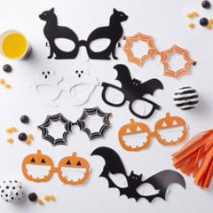 Halloween Dress Up Assorted Paper Glasses - Pack of 8