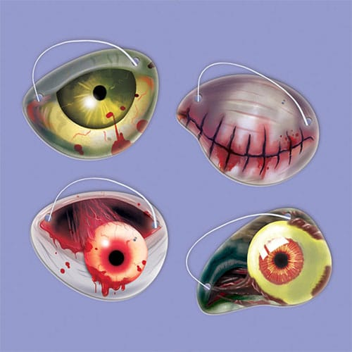 Halloween Zombie Paper Eye Patches - Pack of 12
