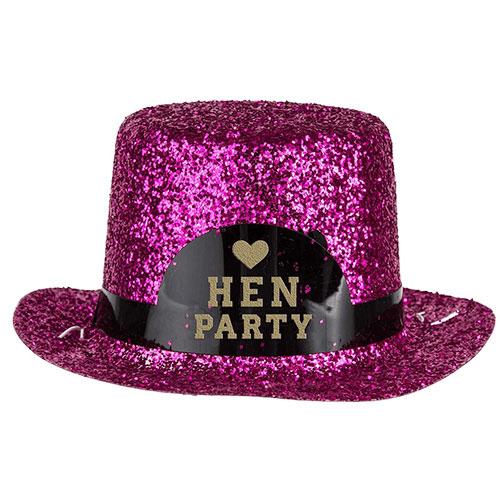 Hen Party Mini Glitter Hat 13cm