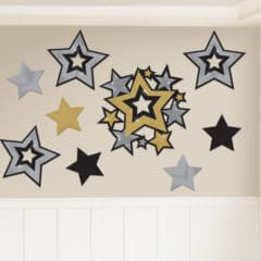Hollywood Assorted Stars Decorative Cutouts - Pack of 30