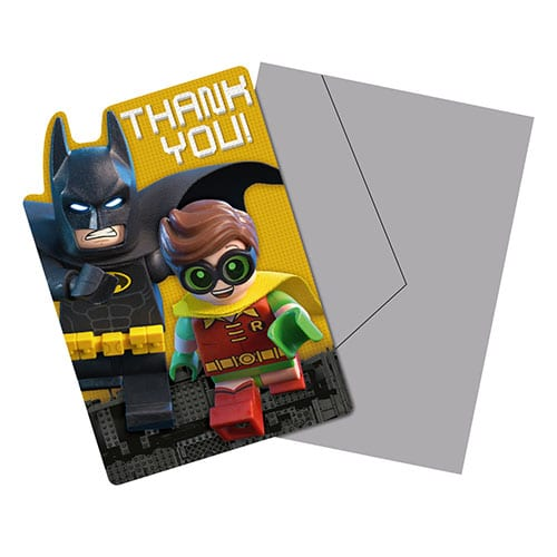 LEGO Batman Thank You Cards With Envelopes - Pack of 8