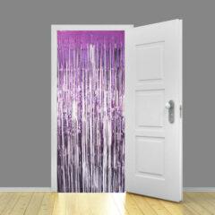 Light Purple Metallic Shimmer Curtain 95cm x 200cm