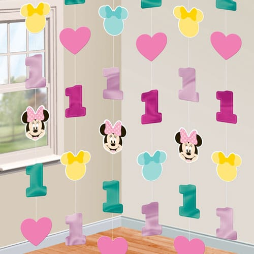 Minnie Mouse Fun to be One String Hanging Decorations - Pack of 6