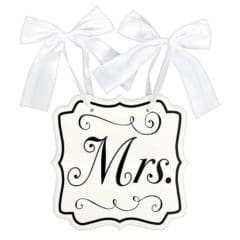 Mrs MDF Chair Wedding Sign 24cm