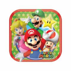 Nintendo Super Mario Square Paper Plate 18cm