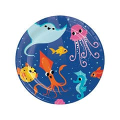 Ocean Celebration Round Paper Plates 17cm - Pack of 8