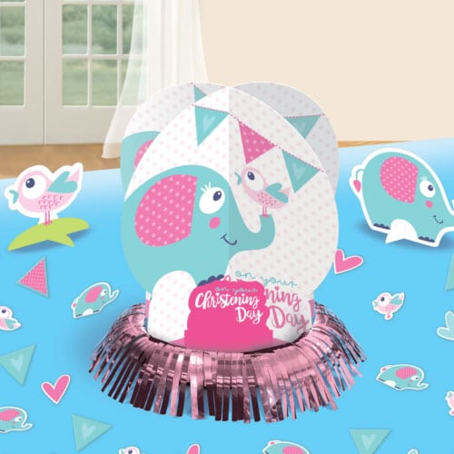 On your Christening Day Pink Table Decorating Kit