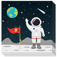 Outer Space Theme Luncheon Napkins 33cm 2Ply - Pack of 20