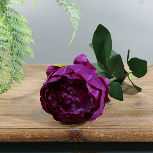 Purple Arundel Garden Peony Artificial Silk Flower 56cm Product Gallery Image