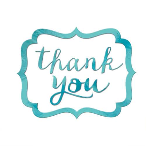 Robin Egg Blue Thank You Stickers Pack Of 50 Partyrama