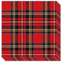 Scottish Red Tartan Luncheon Napkins 3Ply 33cm - Pack of 20