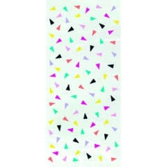 Triangle Confetti Cello Gift Bags With Twist Ties - Pack of 20